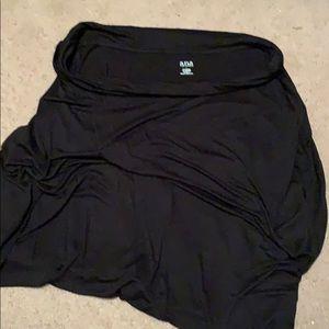 A.n.a Short Black Maxi Skirt